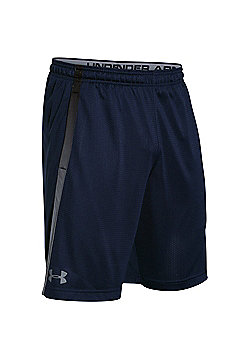 Under Armour Tech Mesh Mens Running Fitness Short Black - L - Blue