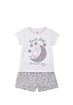 Miffy Bunny Pyjamas White 18-24 months