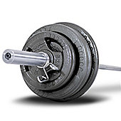 Bodymax 100kg Olympic Cast Tri-Grip Barbell Kit with 6ft bar