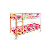 Comfy Living 2ft6 Shorty Children's ECO Wooden Bunk Bed Pine