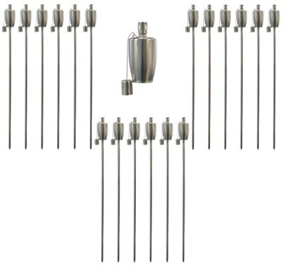 Garden Fire Torch - Oil / Paraffin Lantern - 115cm Barrel Design - Pack Of 12