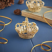 Gold Glitter Crown Decoration