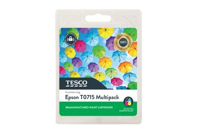 Tesco E715 Printer Ink Cartridge Multipack