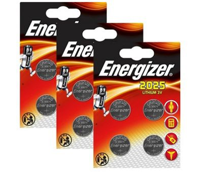 12 x Energizer CR2025 DL2025 SBT-14 3v Lithium Coin Cell Battery