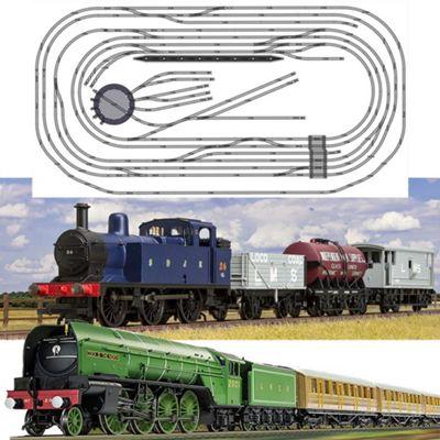 HORNBY Digital Train Set HL12 Large Layout - Multi Track w/ 2 Trains & Turntable