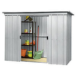 Yardmaster Metal Pent Shed with Floor Support Frame, 6x4ft