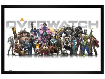 Overwatch Black Wooden Framed Characters Poster 61 x 91.5cm