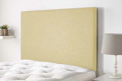Aspire Furniture Derwent Headboard in Malham Weave Fabric - Cream - Single 3ft