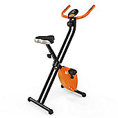 RevXtreme X-Bike Folding Magnetic Exercise Bike Indoor Cycle Orange