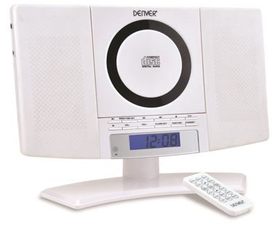DENVER MC-5220 Wall Mountable White CD Player