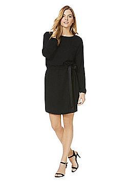 Vila Tie Waist Dress - Black