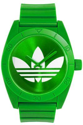 Adidas Unisex Sports Green Plastic Strap Watch ADH2101