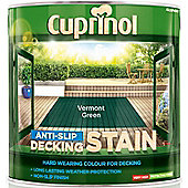 Cuprinol Anti Slip Decking Stain - Vermont Green - 2.5 Litre