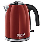 Russell Hobbs Colours 20412 Plus Jug Kettle, 1.7L - Red