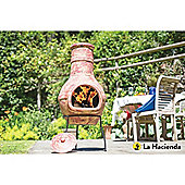 Copper Banded Clay Chimenea