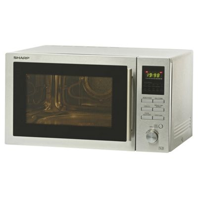 Sharp R82STMA Combination Microwave Oven with Grill, 25L - Silver