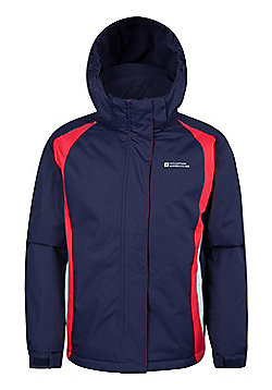 Mountain Warehouse Girls Snowproof Ski Jacket 100% Polyester Microfleece Lining - Blue