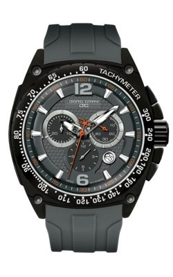 Men's Watch JG8400-21 - Black Silicone Strap - Black Dial - Jorg Gray