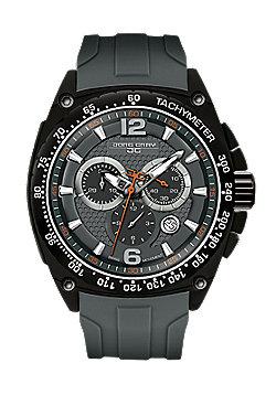 Men's Watch JG8400-21 - Black Silicone Strap - Black Dial - Jorg Gray
