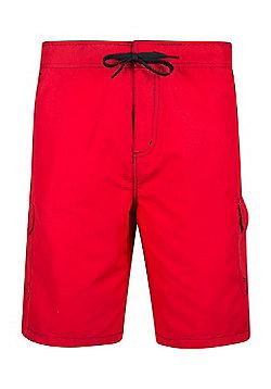 Mountain Warehouse Ocean Mens Boardshorts - Red