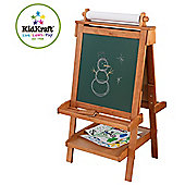 KidKraft Adjustable Wooden Easel - Honey