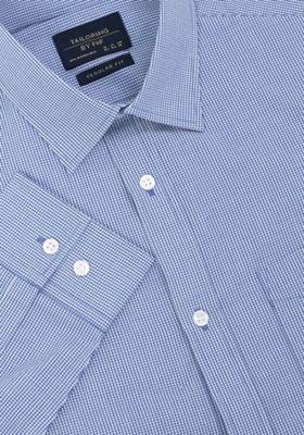 F&F Gingham Regular Fit Long Sleeve Shirt Blue 15
