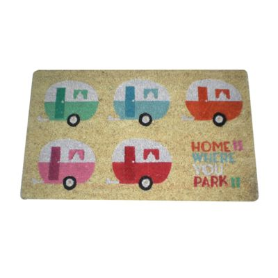 Puckator Home is Where You Park It Caravan Design Door Mat