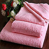 Homescapes Turkish Cotton Pink Face Towel