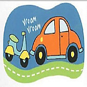 Scooter and Car Giant Sticker