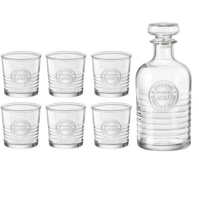 Bormioli Rocco Officina Decanter (1000ml) & Set of 6 Glasses (300ml)