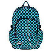 Chok Black & Blue Checker Canvas Backpack 29x42x13cm
