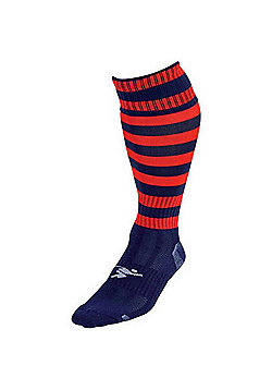 Precision Training Hooped Pro Football Socks - Navy