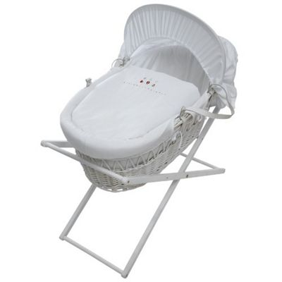 ABC Moses Wicker Basket in White