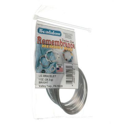 Beadalon Memory Wire Bracelet Lg Brt 1Oz