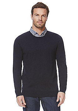 F&F Mock Shirt Layer Jumper - Blue