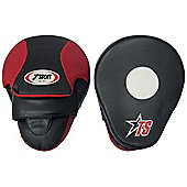 "T-Sport Curved Focus Mitts 10"" Black / Red"