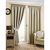Hamilton McBride Belvedere Lined Pencil Pleat Curtains - Natural