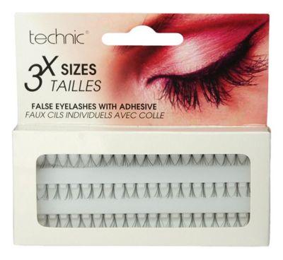 Technic 3 Length Individual False Eyelashes With Adhesive