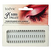 Technic 3 Length Individual False Eyelashes With Adhesive