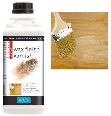 Polyvine Wax Finish Varnish - Satin - 500ML