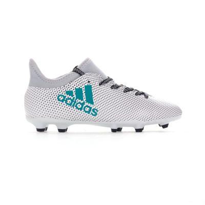 adidas X 17.3 FG Kids Football Soccer Boot White Dust Storm - UK 5