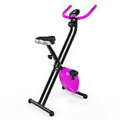 RevXtreme X-Bike Folding Magnetic Exercise Bike Indoor Cycle Pink