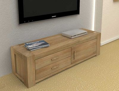 Baumhaus CMR09B Atlas Solid Oak TV Cabinet