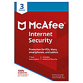 McAfee 2018 Internet Security 3 Device