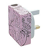 MiTEC Style iPhone 5 2 in 1 Mains Charger Pink Flower 2A