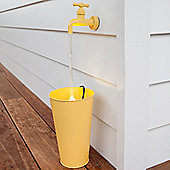 Yellow Floating Tap Water Feature with LED Lights
