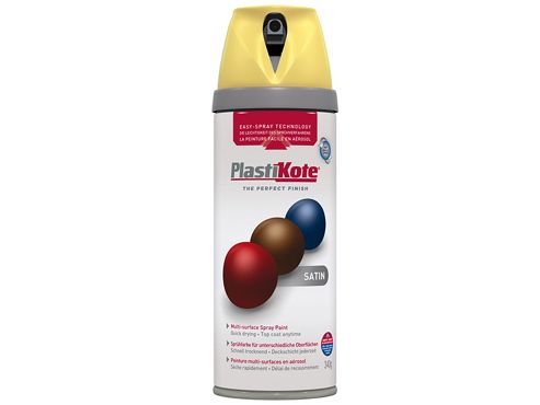 Plasti-kote Twist & Spray Satin Daffodil 400ml