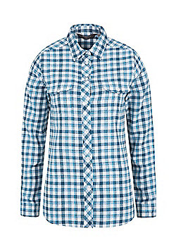 Mountain Warehouse Beech Brushed Flannel Ls Womens Shirt - Blue