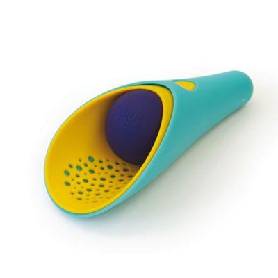 Quut Cuppi (Shovel, Sieve & Ball) Lagoon Green/Mellow Yellow / Blue Ball - Beach Toys