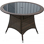 Small Round Dining Table in Chocolate Mix (105 dia)